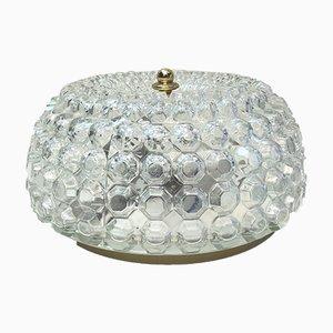 Vintage Deckenlampe aus Messing & Glas von Helena Tynell für Limburg, 1960er