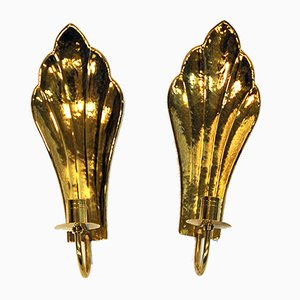 Vintage Swedish Brass Sconces by Lars Holmström for Arvika, 1960s, Set of 2