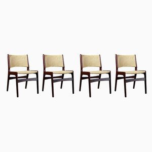 Mid-Century Danish Model 89 Rosewood Dining Chairs by Erik Buch, 1960s, Set of 4