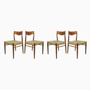 Chaises de Salle à Manger par Niels O. Moller pour J.L. Moller Møbelfabrik, Danemark, 1950s, Set de 4