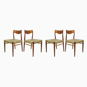 Danish Dining Chairs by Niels O. Moller for J.L. Moller Møbelfabrik, 1950s, Set of 4