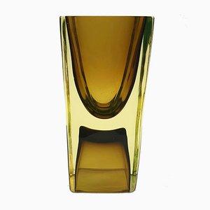 Vaso quadrato a forma di clessidra di Antonio da Ros per Cenedese, anni '60