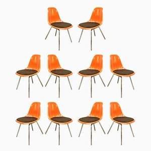Dining Chairs by Charles & Ray Eames for Herman Miller, 1950s, Set of 10