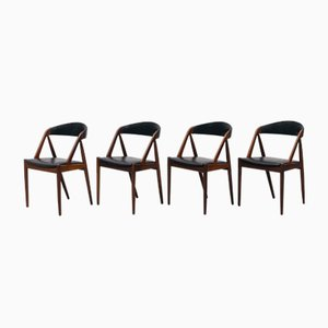 31 Esszimmerstühle aus Palisander von Kai Kristiansen, 1950er, 4er Set