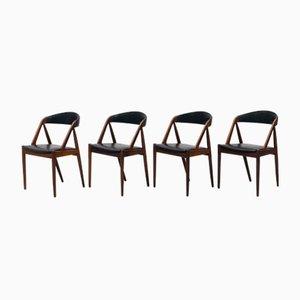 Chaises de Salle à Manger 31 en Palissandre par Kai Kristiansen, 1950s, Set de 4