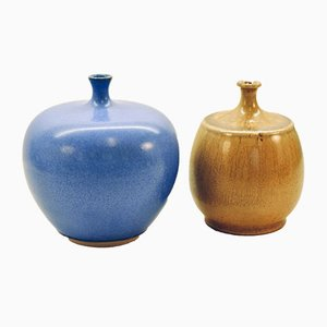 Mid-Century Vases by Leif Svensson for Höganäs, 1960s, Set of 2