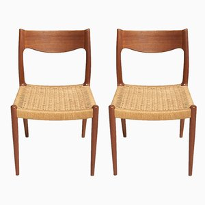 Paper Cord Dining Chairs, 1960s, Set of 2