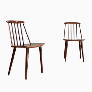 Chaises de Salle à Manger J77 par Folke Pålsson pour FDB Møbelfabrik, 1960s, Set de 2