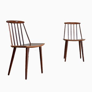 J77 Dining Chairs by Folke Pålsson for FDB Møbelfabrik, 1960s, Set of 2