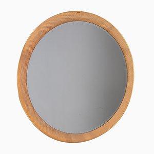 Vintage Brass Beveled Mirror, 1960s