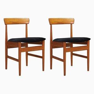 Dänische Vintage Esszimmerstühle, 2er Set