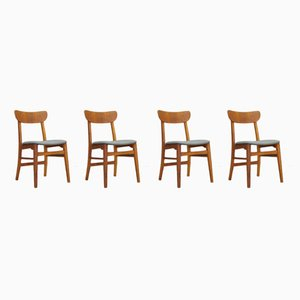 Vintage Scandinavian Dining Chairs, Set of 4