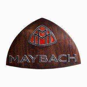 Cartel de madera de Maybach, años 80