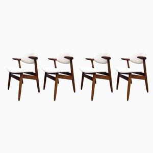 Esszimmerstühle von Tijsseling für Hulmefa Nieuwe Pekela, 1950er, 4er Set