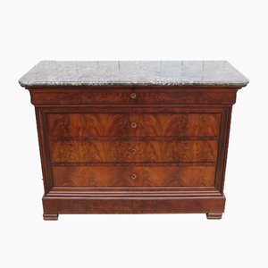 Antique French Mahogany and Marble Dresser