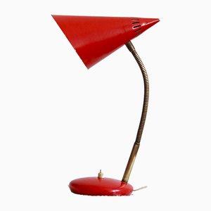 Lámpara de mesa italiana Mid-Century grande, años 50