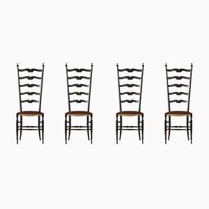 Chaises de Salle à Manger Chiavari Vintage par Gio Ponti, 1950s, Set de 4