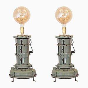 Industrielle Vintage Stehlampen, 1950er, 2er Set