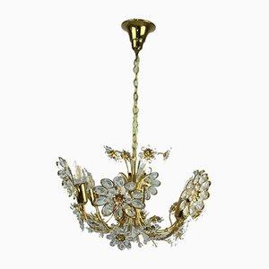 Lámpara de araña dorada de Palwa, años 60