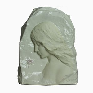 Antique Art Nouveau Ceramic Sculpture from Friedrich Goldscheider