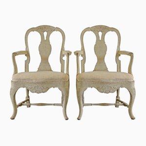 Antique Rococo Armchairs, Set of 2