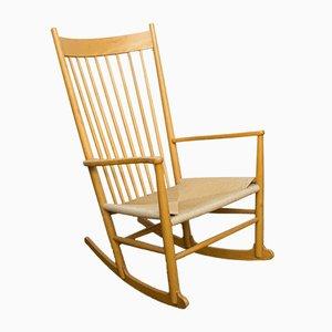 Rocking Chair Modèle J16 Vintage par Hans J. Wegner pour Møbler F.D.B.
