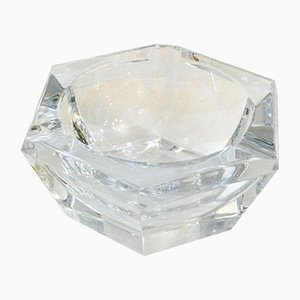 Mid-Century Hexagonal Crystal Ashtray from Val Saint Lambert