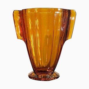 Art Deco Amber Colored Vase, 1930s