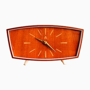 Vintage German Wooden Clock from Weimar, 1960s