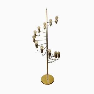 Italian Golden Floor Lamp by Gino Sarfatti, 1970s