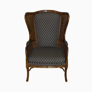 Mid-Century Dutch Woven Cane Armchair