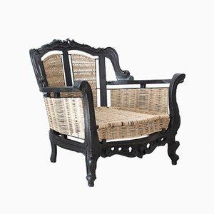 Vintage Sessel im Barockstil, 1950er