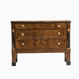 Antique Empire Italian Walnut Dresser