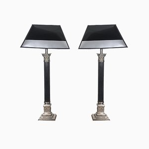 Empire Style French Table Lamps, 1930s, Set of 2