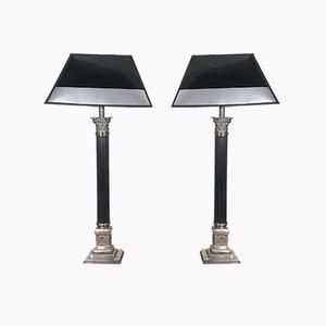 Französische Empire Tischlampen, 1930er, 2er Set