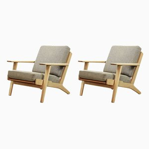 GE-290 Lounge Chairs by Hans J. Wegner for Getama, 1960s, Set of 2