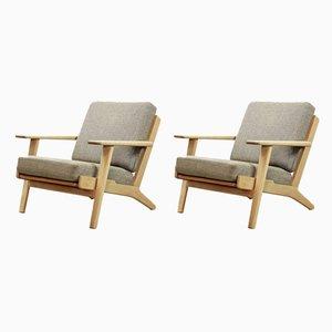GE-290 Sessel von Hans J. Wegner für Getama, 1960er, 2er Set