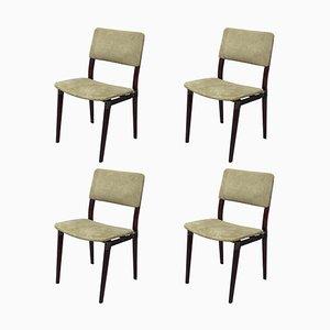 Chaises de Salle à Manger S82 en Palissandre par Eugenio Gerli pour Tecno, 1960s, Set de 4