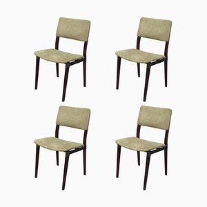 Rosewood S82 Dining Chairs by Eugenio Gerli for Tecno, 1960s, Set of 4