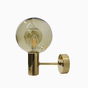 Mid-Century Brass and Glass Sconce by Hans-Agne Jakobsson, 1960s