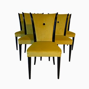 Art Deco Italian Dining Chairs, 1930s, Set of 5