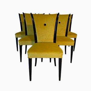 Italienische Art Déco Esszimmerstühle, 1930er, 5er Set