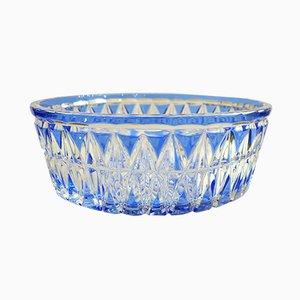 Large Mid-Century Crystal Bowl from Val Saint Lambert