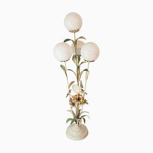 Mid-Century Stehlampe mit floralem Dekor