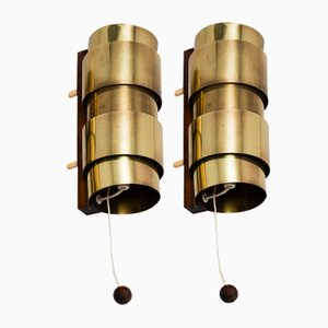 Mid-Century Rosewood Sconces by Hans-Agne Jakobsson for Markaryd, Set of 2