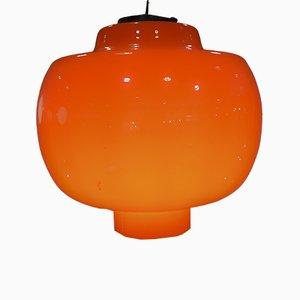 Lampada da soffitto in vetro di Murano di Gino Vistosi per Vistosi, Italia, anni '60