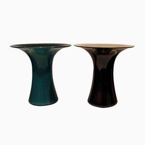 Vasen aus Muranoglas von Angelo Mangiarotti für Vistosi, 1970er, 2er Set