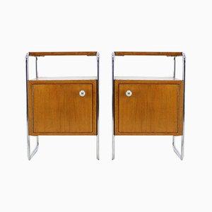 Bauhaus Beistelltische, 1930er, 2er Set