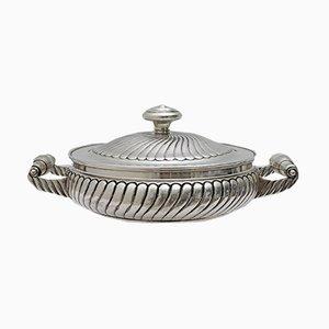 Italian Silver Dish from Argenteria Morini, 1950s