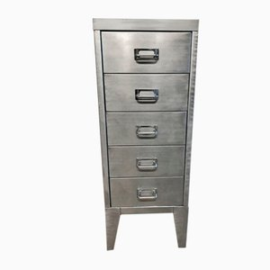 Mid-Century Stripped Metal Filing Cabinet